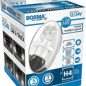 PIRN LED CANBUS 25W 12/24V H4 6000K 4000LM P43T 2TK BOSMA