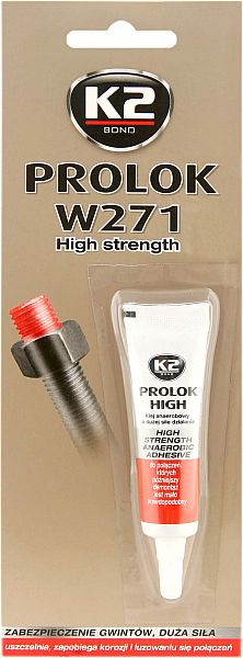 K2 W271 HIGH STRENGHT anaeroobne PUNANE KEERMELIIM 6ML