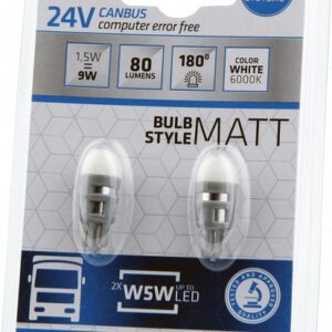 LED 24V CANBUS W5W/T10 1,5W 2TK BOSMA