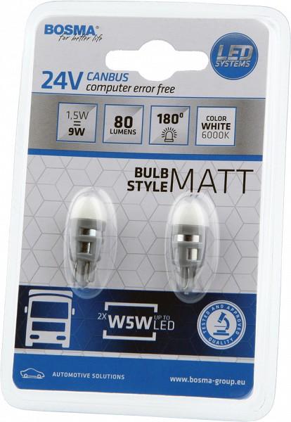 e6422134151 LED 24V CANBUS W5W/T10 1,5W 2TK BOSMA