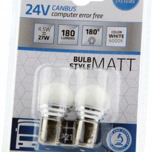 LED CANBUS 24V 4,5W P21W BA15S 2TK BOSMA