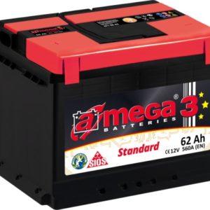 AKU 62AH 560A standard 12V 242x175x190 A-MEGA 3