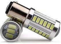 Pirn LED BAU15s  33SMD 12V Blister 2tk P21W