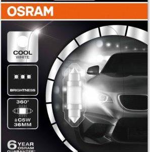 Pirn LED 1W 12V SV8.5-8 36mm Blister 1tk