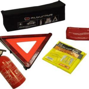 Ohutusvarustuse komplekt TÜV jaoks tulekustuti, vest, kolmnurk, esmaabi