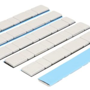 Liimitav raskus  4×5 ja 4×10  Teras 50tk pakis ( hõbedane matt )