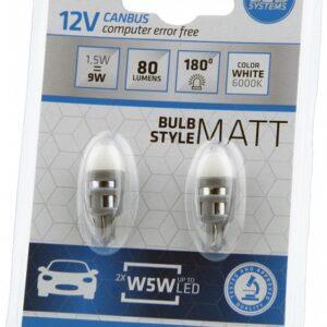 PIRN LED CANBUS 1,5W W5W 12V 6000K 2TK BOSMA