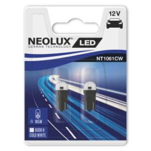 LED pirn W5W/T10  0,5W 6000K 2TK Neolux