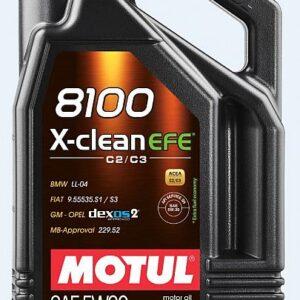 MOTUL 8100 X-CLEAN EFE 5W30 5L Dexos2 LL04 MB229.52