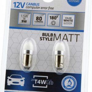 PIRN LED CANBUS 1,5W T4W 12V 6000K BA9S BLISTER-2TK BOSMA