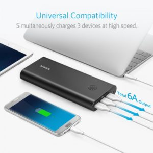 AKUPANK 26800 MAH & POWERPORT+ 1 QUICK CHARGE 3.0 ANKER