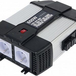 INVERTER 12V->230V 600/1200W +USB