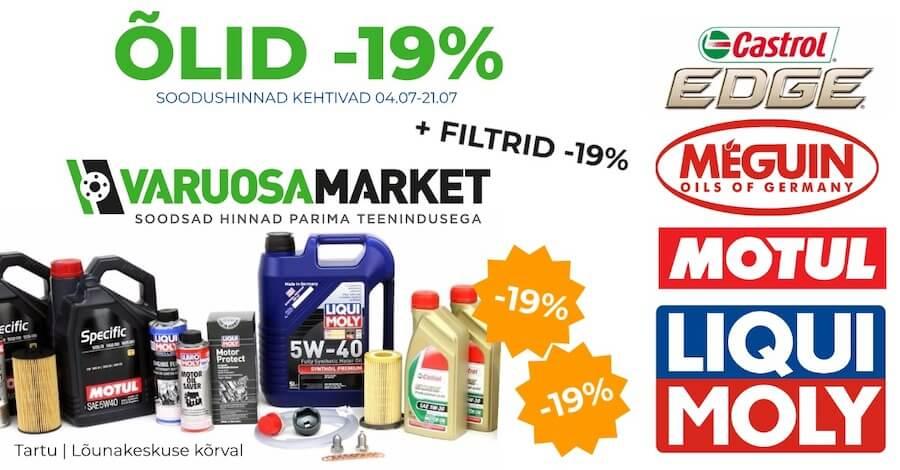 Õlid ja Filtrid -19% (04.07 – 21.07)