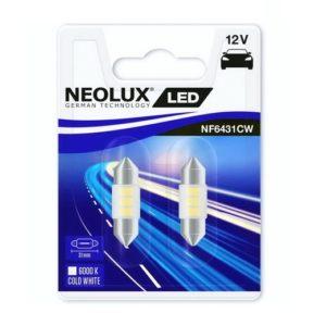 PIRN LED 0,5W C5W 12V 6000K SV8,5-8 31MM BLISTER-2TK