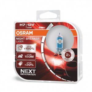 Pirn 12V H7 NBR Laser 150% OSRAM