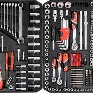 1 Tööriistakomplekt 225-OSA 1/4″, 3/8″, 1/2″ YATO
