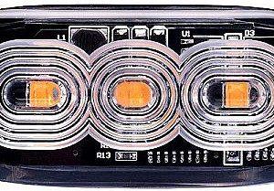 STROBO VILKUR KOLLANE 3- LED 12/24V, MADAL 82X30X9