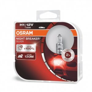 Pirn H1 55W 12V NB Silver 100% OSRAM Blister 2tk