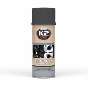 Sprayplast kilevärv must matt 400ml K2