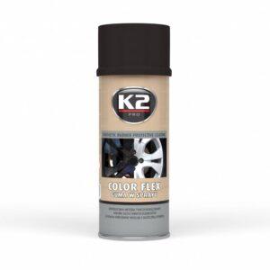 Sprayplast kilevärv must läikiv 400ml K2