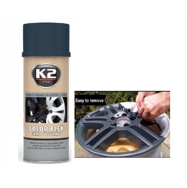 Sprayplast kilevärv carbon 400ml K2