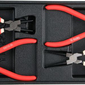 Stopperrõngaste tangide komplekt 4-osa ( 180mm )