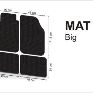 Jalamatid kummist universaalsed MAT 3 ( suurus 3 )