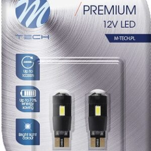12V T10 LED PIRN 3W W5W CANBUS PREMIUM BLISTER 2TK M-TECH