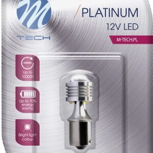 LED PIRN BA15S 12V 3,5W  CANBUS PLATINUM  (OSRAM LED) M-TECH