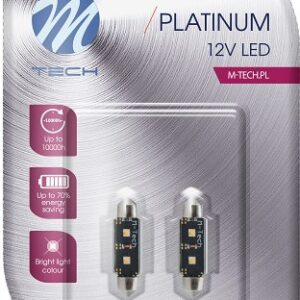12V LED PIRN 3,5W 36MM C5W CANBUS PLATINUM BLISTER 2TK(OSRAM LED) M-TEC