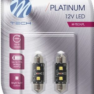 12V LED PIRN 3,5W 41MM CANBUS PLATINUM BLISTER 2TK (OSRAM LED) M-TECH