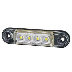 KÜLJETULI LED VALGE 78X19X11MM 12/24V IP68