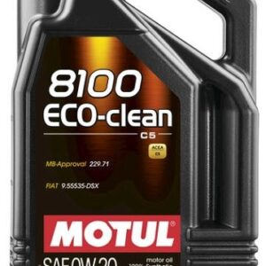 MOTUL 8100 ECO-CLEAN 0W20 5L  C5 MB 229.71 BMW LL-17