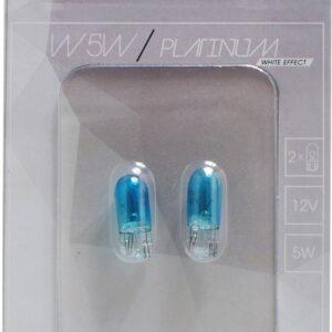 12V T10 PIRN 5W W5W PLATINUM WHITE EFFECT