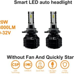 LED PIRNID HB3 6000K 20W 12V