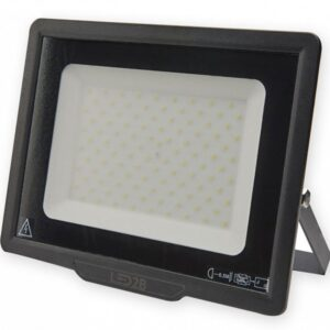 230V PROZEKTOR LED 100W 8000LM 232X287MM COOL WHITE, MUST IP65 A++