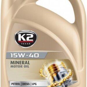 K2 TEXAR 15W40 MINERAL SL/CF/CF-4 5L (MINERAAL)