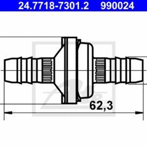 Klapp pidurivõimendi  24.7718-7301.2 Opel, Renault, Volvo 9485451