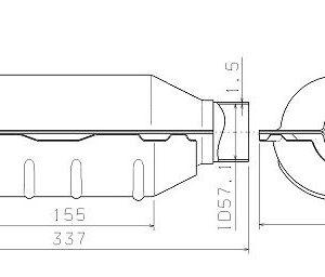KATALÜSAATOR 57×337 kuni 3,0L bens Euro 2