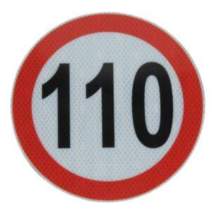 Hoiatussilt 110km/h peegeldav 20cm