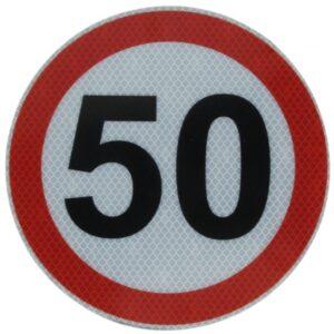 Hoiatussilt 50km/h peegeldav 20cm