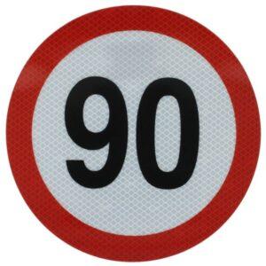 Hoiatussilt 90km/h peegeldav 20cm