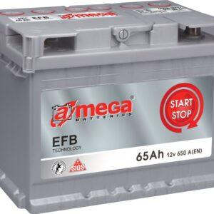 Aku 65AH 650A 12V  EFB start&stop 243x175x190 A-MEGA