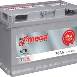 Aku  78AH 790A 12V EFB start&stop 275x175x190  A-MEGA