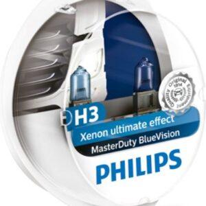 Pirn H3 (Komplekt 2tk) 24V 70W PK22S Master Duty Blue Vision