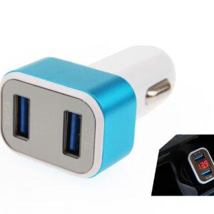 Laadija 2x USB + aku pinge indikaator