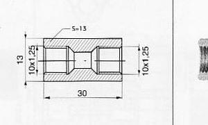 Piduritoru liitmik M10x1,25 / M10x1,25