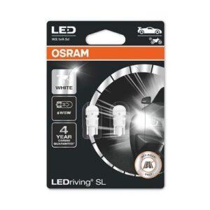 LED PIRNID W5W T10 4000K WHITE 2TK OSRAM