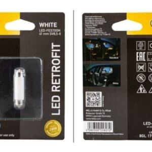 LED PIRN 41mm C5W HELLA 4000k warm white